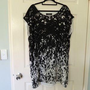 Decjuba dress size 14 black white cocktail party